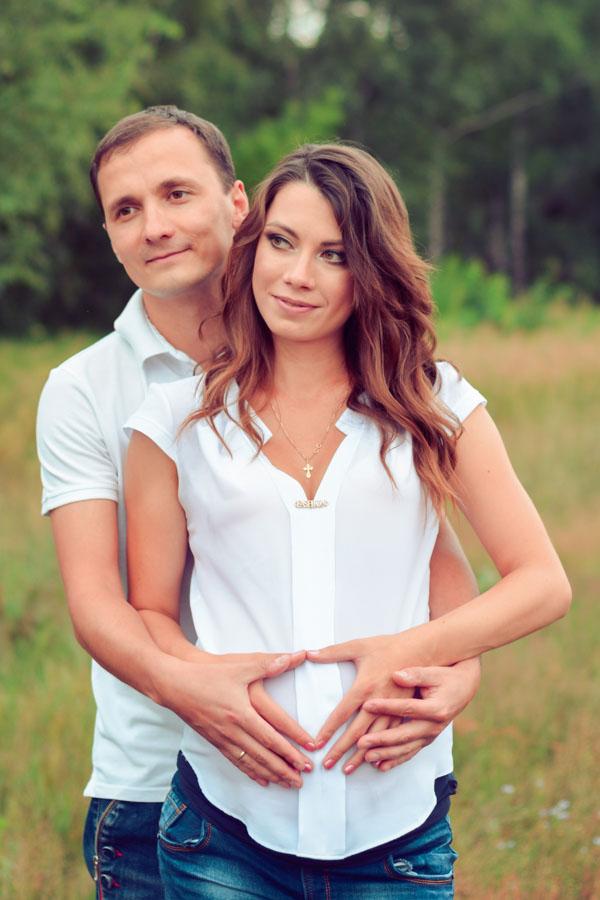 фотосессия беременных в парке